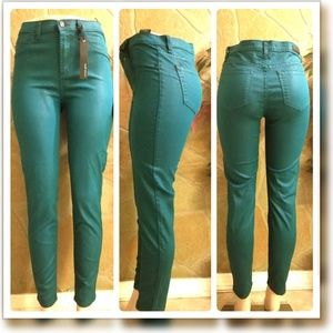 Teal high waist skinny fit pant